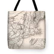 Map: Northeast U.s.a Tote Bag