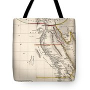 Map Of Aegyptus Antiqua Tote Bag by Sydney Hall