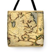 Map Of Africa 1690 Tote Bag