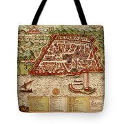 Map Of Algiers 1541 Tote Bag