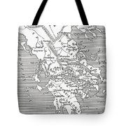Map Of Ancient Greece Tote Bag