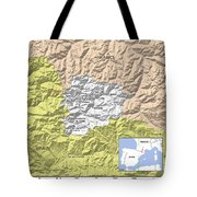 Map Of Andorra Tote Bag