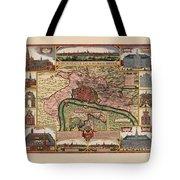 Map Of Antwerp 1675 Tote Bag