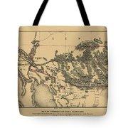 Map Of Arizona 1857 Tote Bag