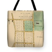 Map Of Auckland 1863b Tote Bag