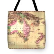 Map Of Australia 1828 Tote Bag