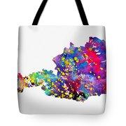 Map Of Austria-colorful Tote Bag