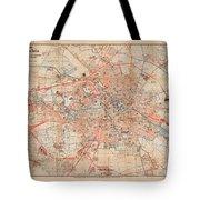Map Of Berlin 1895 Tote Bag