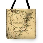 Map Of Brazil 1808 Tote Bag
