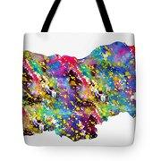 Map Of Bulgaria-colorful Tote Bag