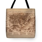 Map Of Cairo 1600 Tote Bag