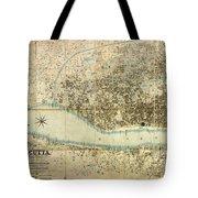 Map Of Calcutta 1857 Tote Bag