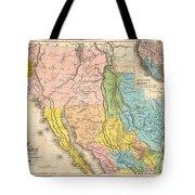 Map Of California New Mexico Texas  1849 Tote Bag