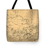 Map Of Canada 1762 Tote Bag