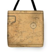 Map Of Cape Cod 1931 Tote Bag