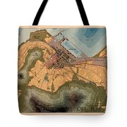 Map Of Cape Town 1947 Tote Bag