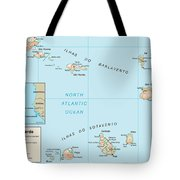 Map Of Cape Verde Tote Bag