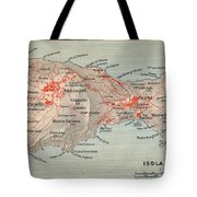 Map Of Capri 1909 Tote Bag