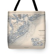 Map Of Charleston Tote Bag