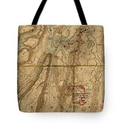 Map Of Chattanooga 1895 Tote Bag