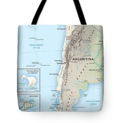 Map Of Chile 2  Tote Bag