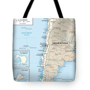 Map Of Chile Tote Bag