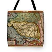 Map Of China 1590 Tote Bag