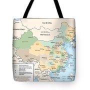 Map Of China Tote Bag