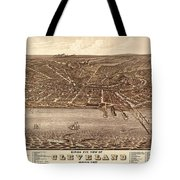 Map Of Cleveland 1877b Tote Bag