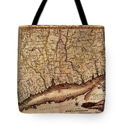 Map Of Connecticut 1795 Tote Bag