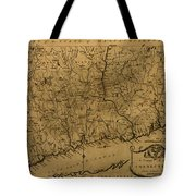 Map Of Connecticut 1797 Tote Bag