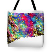 Map Of Connecticut-colorful Tote Bag