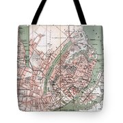 Map Of Copenhagen 1888 Tote Bag
