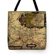Map Of Cremona 1579 Tote Bag