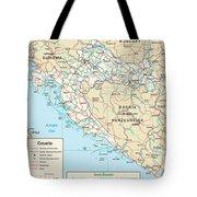 Map Of Croatia Tote Bag