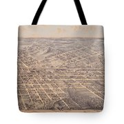 Map Of Dallas 1872 Tote Bag