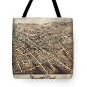 Map Of Danbury 1875 Tote Bag