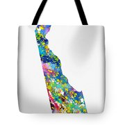 Map Of Delaware-colorful Tote Bag