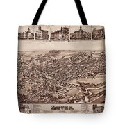 Map Of Dover 1885 Tote Bag