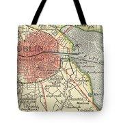 Map Of Dublin Tote Bag