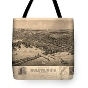 Map Of Duluth 1893 Tote Bag
