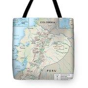 Map Of Ecuador 2 Tote Bag