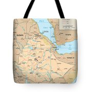 Map Of Ethiopia Tote Bag