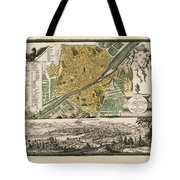 Map Of Florence 1731 Tote Bag