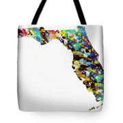 Map Of  Florida-colorful Tote Bag