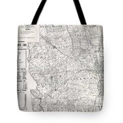 Map Of Franklin County Ohio 1883 Tote Bag