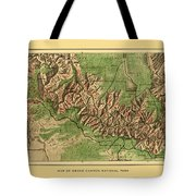 Map Of Grand Canyon 1926 Tote Bag