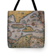 Map Of Gulf Of Mexico And C Tote Bag