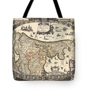 Map Of Holland 1630 Tote Bag