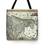Map Of Holland 1682 Tote Bag